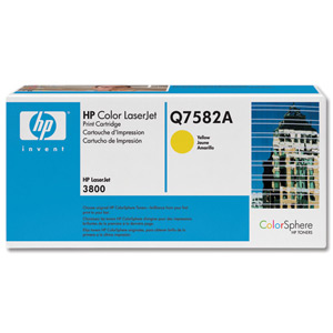 HP Q7582A Toner Yellow Hewlett Packard